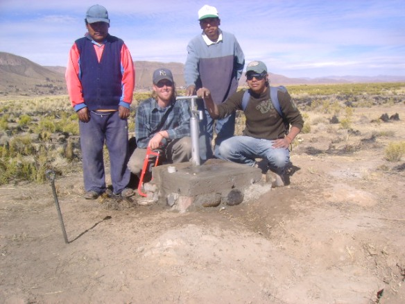 Well drilling in the Altiplano